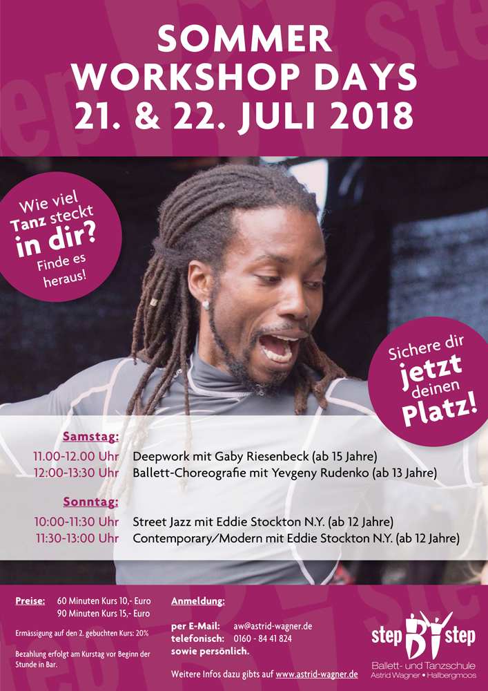 Sommer Workshop Days – 21. & 22. Juli 2018
